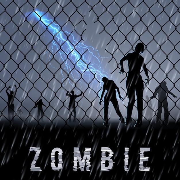 Zombie poste Premium Vector
