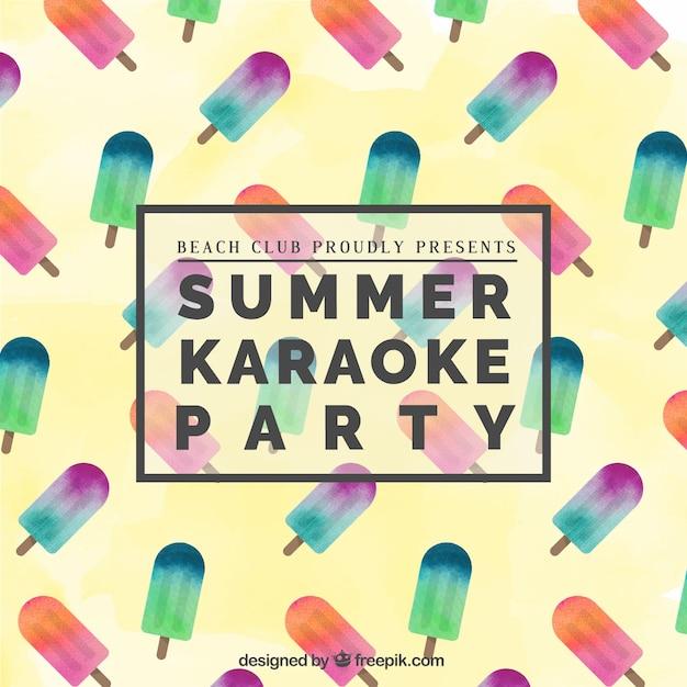 Zomer karaoke party poster Vector   Gratis Download  Karaoke