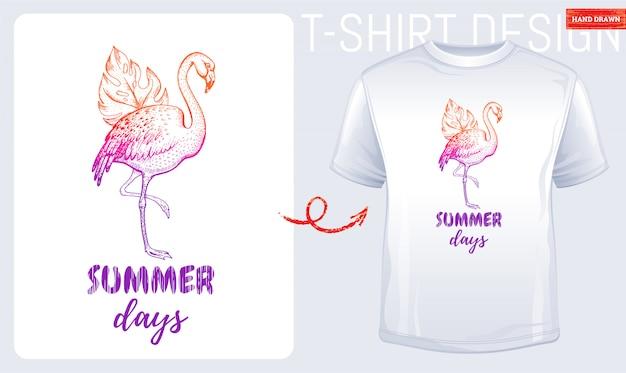 Zomer t-shirt print Premium Vector