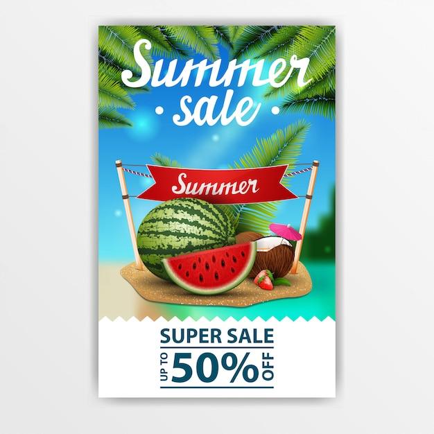 Zomer verkoop banner Premium Vector