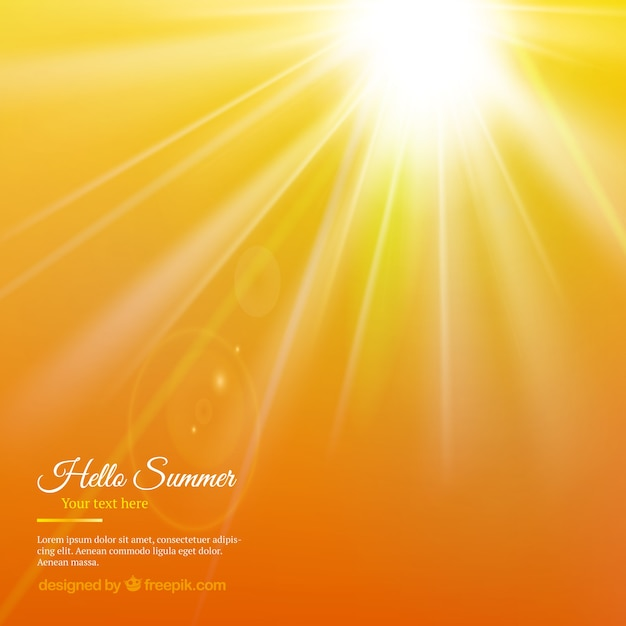 Zomer zon achtergrond Gratis Vector