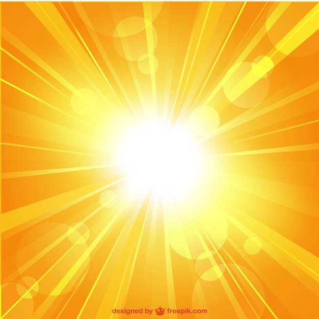 Zomer zonnestraal vector sjabloon Gratis Vector