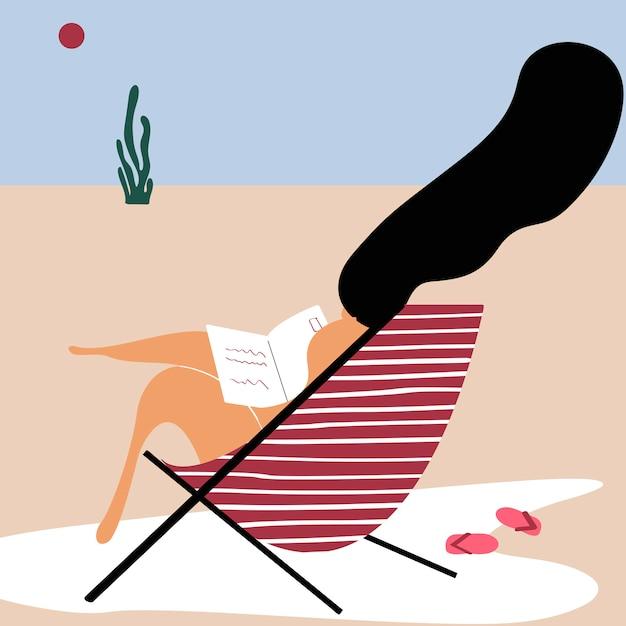 Zomerdagen op het strand Gratis Vector