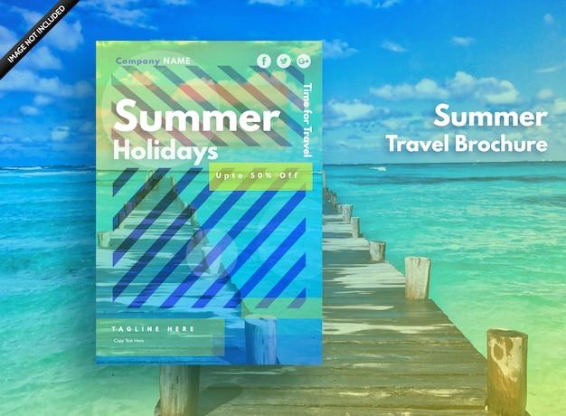 Zomerposter voor vakanties, feest en verkoop Premium Vector