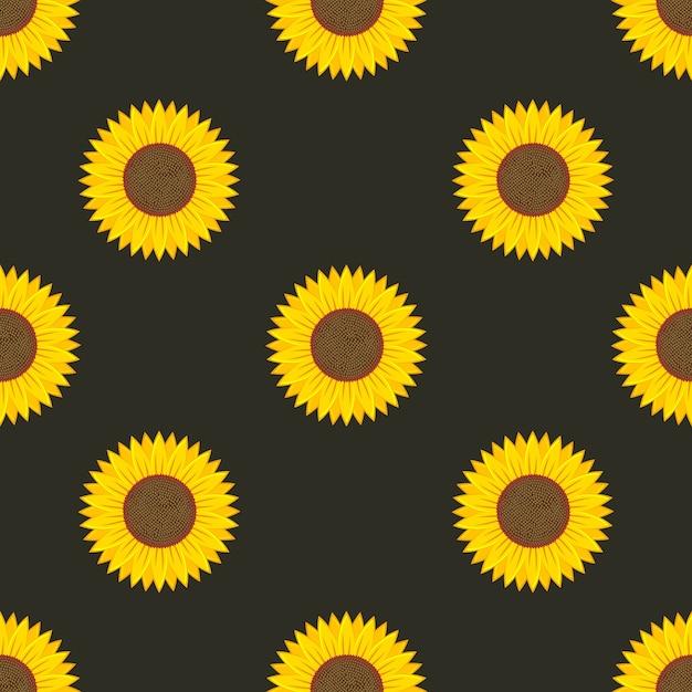Zonnebloem naadloos patroon Premium Vector