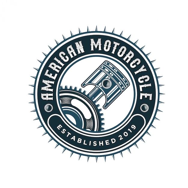 Zuigerlogo voor werkplaatsen en automotive Premium Vector