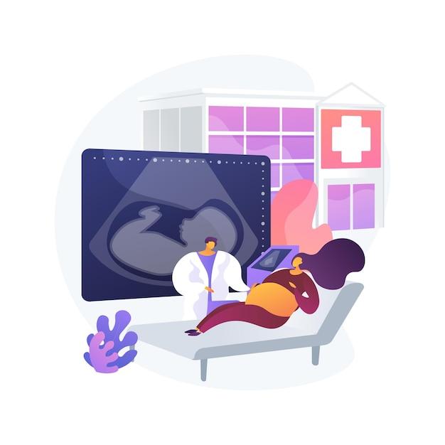 Zwangerschap support center abstract concept vectorillustratie. zwangerschap medische ondersteuning, centrum voor gezinsplanning, moederschap cursus, gezondheidszorg, jonge moeder hulp abstracte metafoor. Gratis Vector