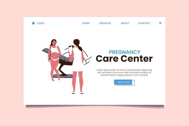 Zwangerschapsconsultatie - bestemmingspagina Gratis Vector