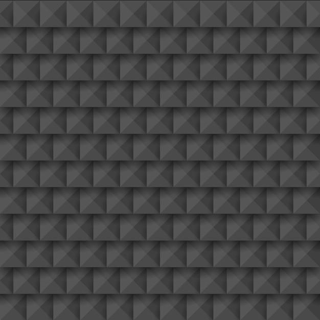 Zwart abstract 3d geometrisch naadloos patroon van vierkanten Premium Vector