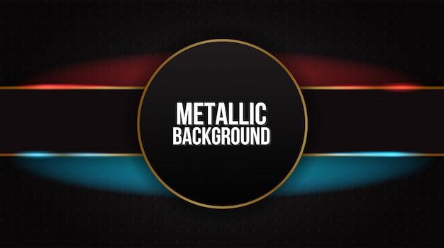 Zwart abstract mat geometrisch rood en blauw elegant futuristisch glanzend rood en blauw als achtergrond Premium Vector