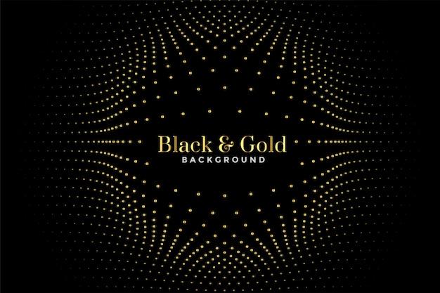 Zwart en gouden halftoonpatroon Gratis Vector