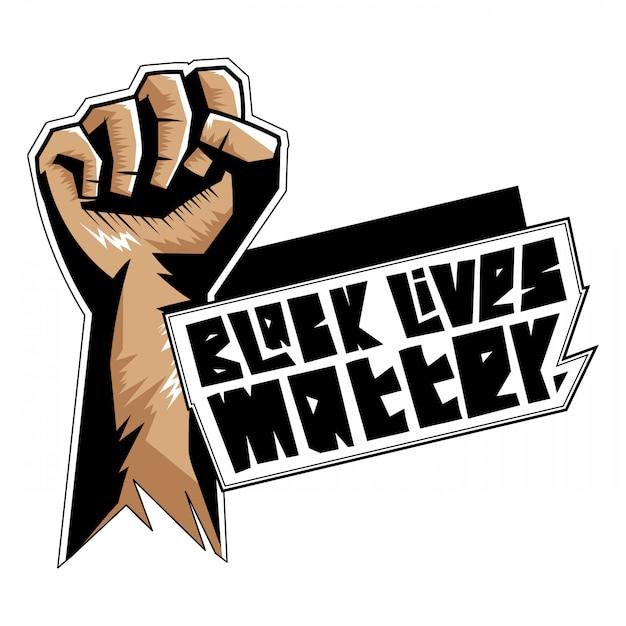 Zwart leven kwestie illustratie t-shirt ontwerp Gratis Vector