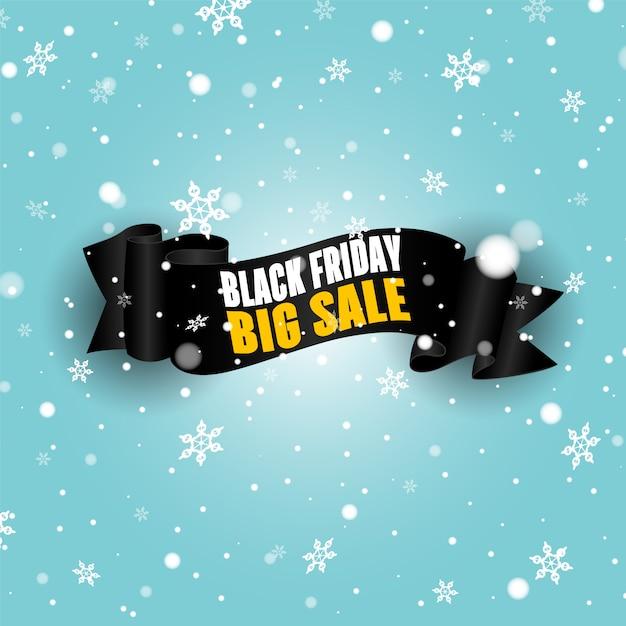 Zwart realistische gebogen papierrol. black friday-verkoopbanner. Premium Vector