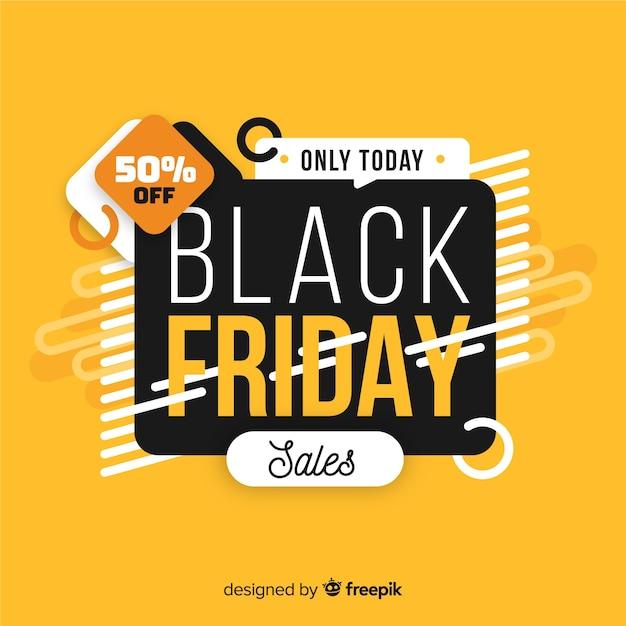 Zwart vrijdag concept met alleen vandaag verkoop Gratis Vector