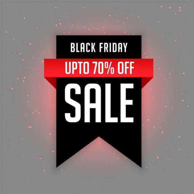 Zwart vrijdag verkoop label met aanbieding details Gratis Vector