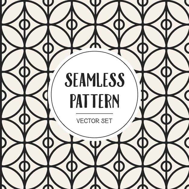 Zwart-wit geometrisch naadloos patroon Premium Vector