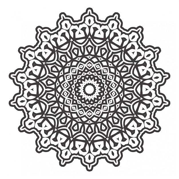 Zwart-wit mandala's kleurboek Premium Vector