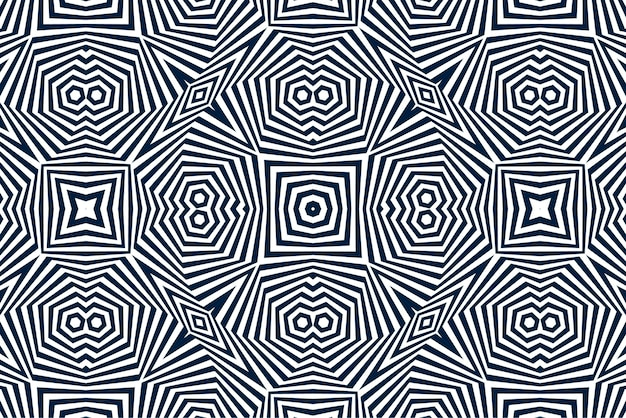 Zwart-wit optische illusie achtergrond Gratis Vector