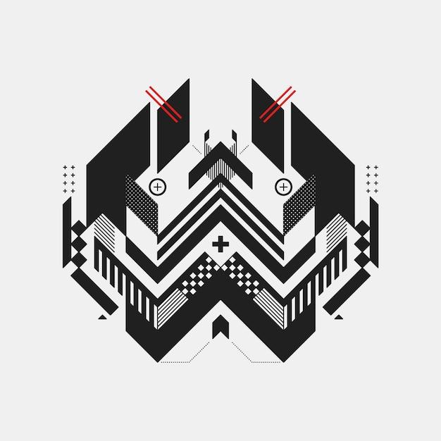 Zwart-witte geometrische achtergrond Gratis Vector