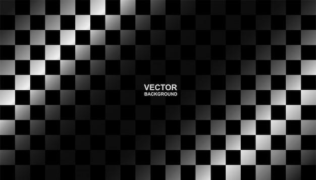 Zwart-witte geruite vlagachtergrond. Premium Vector