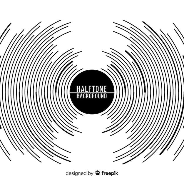Zwart-witte halftone achtergrond Gratis Vector