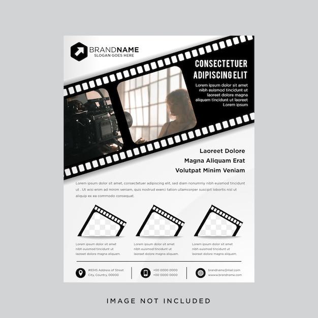 Zwart-witte kleur met a4-formaat postersjabloon. Premium Vector