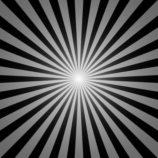 Zwart-witte zonnestraalachtergrond Premium Vector