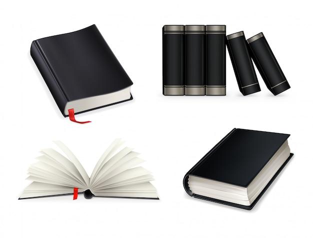 Zwartboek set Premium Vector