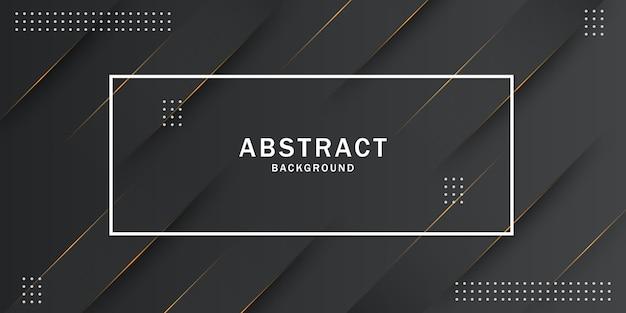Zwarte abstracte geometrische achtergrond Premium Vector