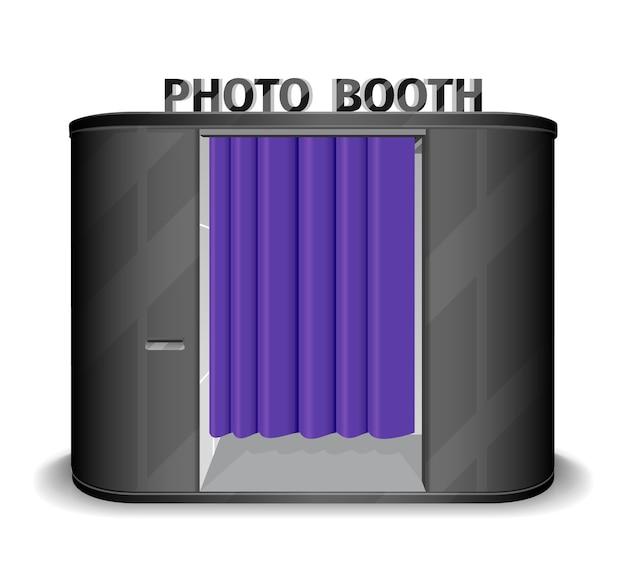 Zwarte automaat met fotocabine. Gratis Vector