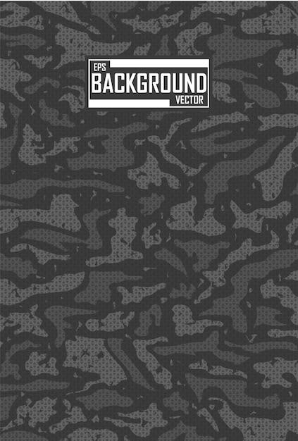 Zwarte camouflage achtergrond Gratis Vector