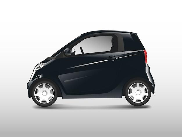 Zwarte compacte hybride auto vector Gratis Vector