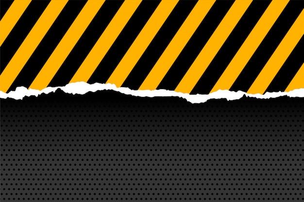Zwarte en gele strepen in papier gesneden stijl Gratis Vector