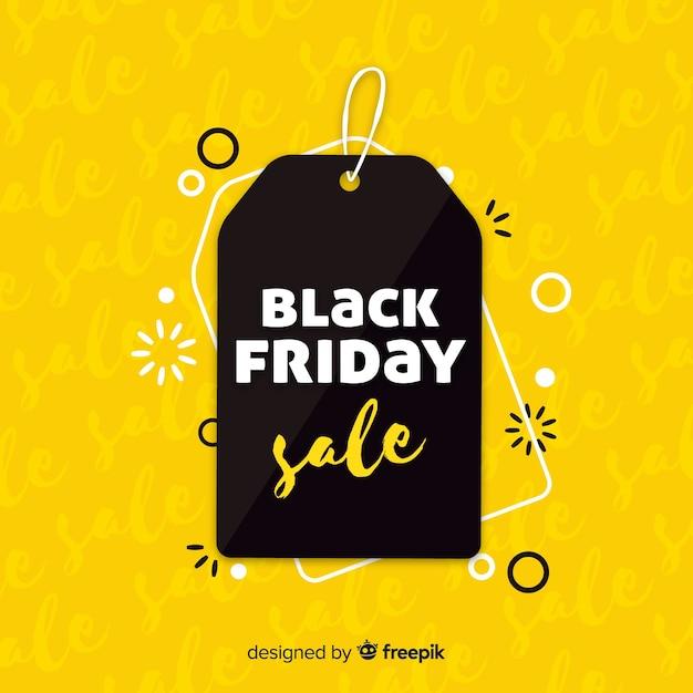 Zwarte en gele zwarte vrijdag verkoop achtergrond Gratis Vector