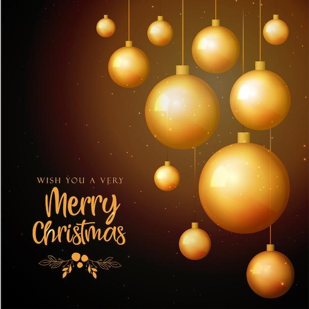 Zwarte en gouden merry christmas achtergrond Premium Vector