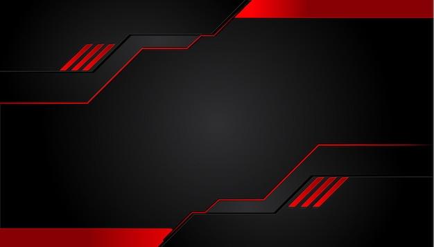 Zwarte en rode metalen achtergrond Premium Vector