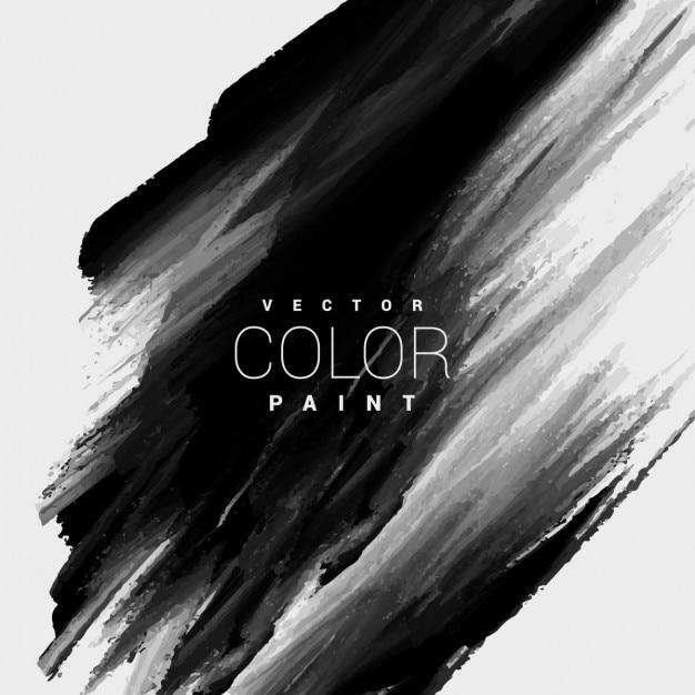 Zwarte kleur verf vlek achtergrond Gratis Vector