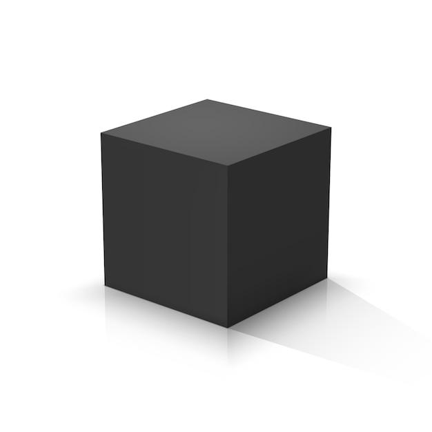 Zwarte kubus Premium Vector