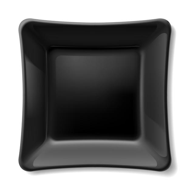 Zwarte plaat Premium Vector
