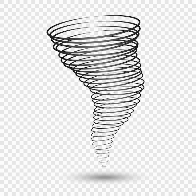 Zwarte tornado Premium Vector
