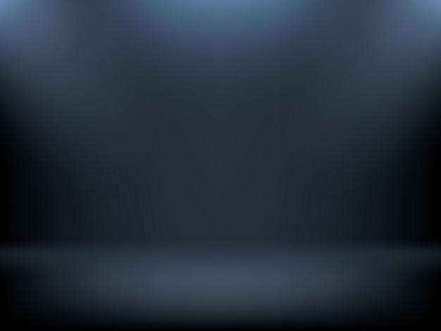 Zwarte verloop achtergrond, schijnwerpers verlichting Gratis Vector