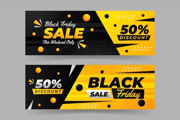 Zwarte vrijdag banner sjabloonontwerp Premium Vector