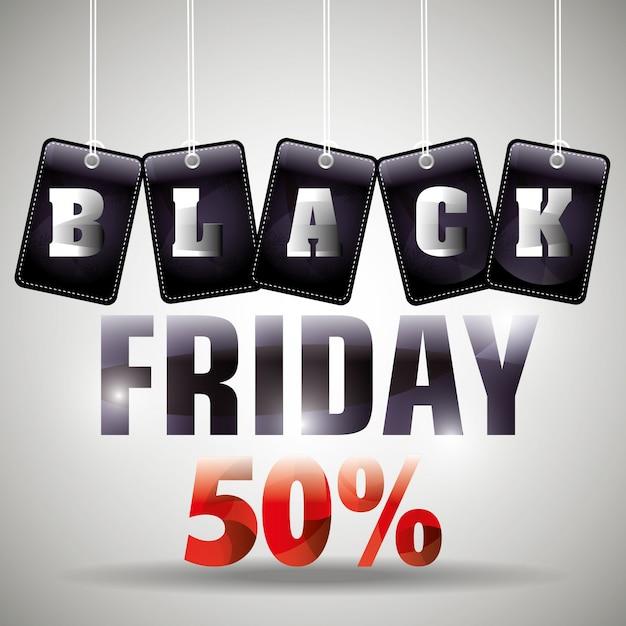 Zwarte vrijdag kortingen Premium Vector