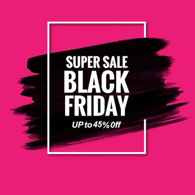 Zwarte vrijdag moderne verkoop banner Gratis Vector