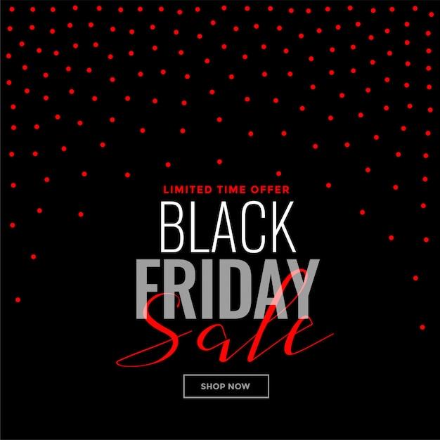 Zwarte vrijdag rode stippen achtergrond verkoop sjabloon Gratis Vector
