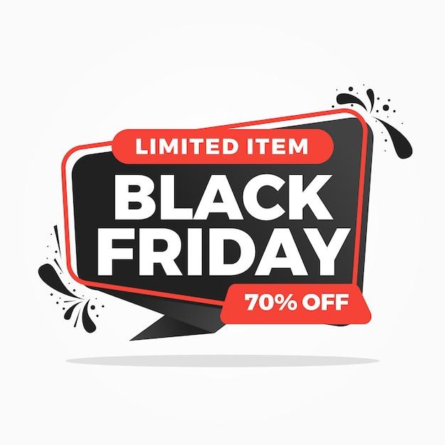 Zwarte vrijdag verkoop achtergrond banners Premium Vector