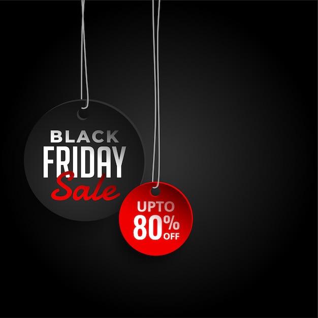 Zwarte vrijdag verkoop achtergrond met aanbieding details Gratis Vector