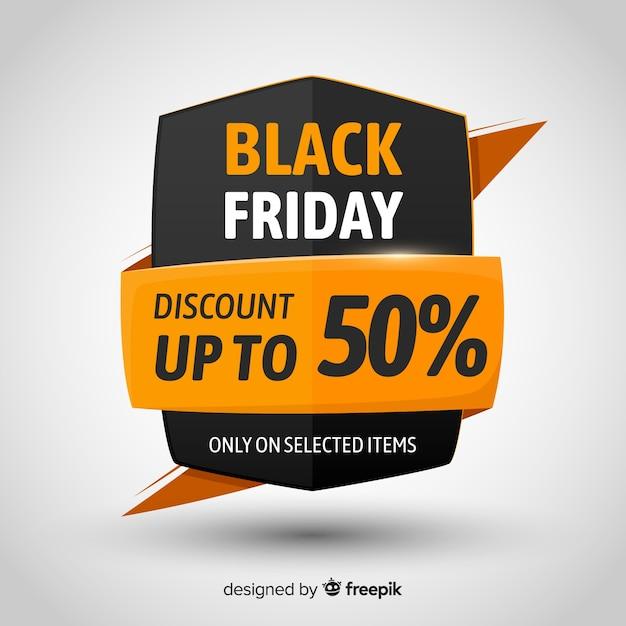 Zwarte vrijdag verkoop achtergrond sjabloon Gratis Vector