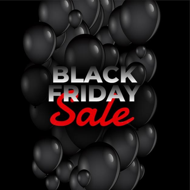 Zwarte vrijdag verkoop ballonnen Gratis Vector