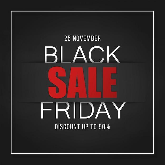Zwarte vrijdag verkoop banner ontwerp flyer Premium Vector